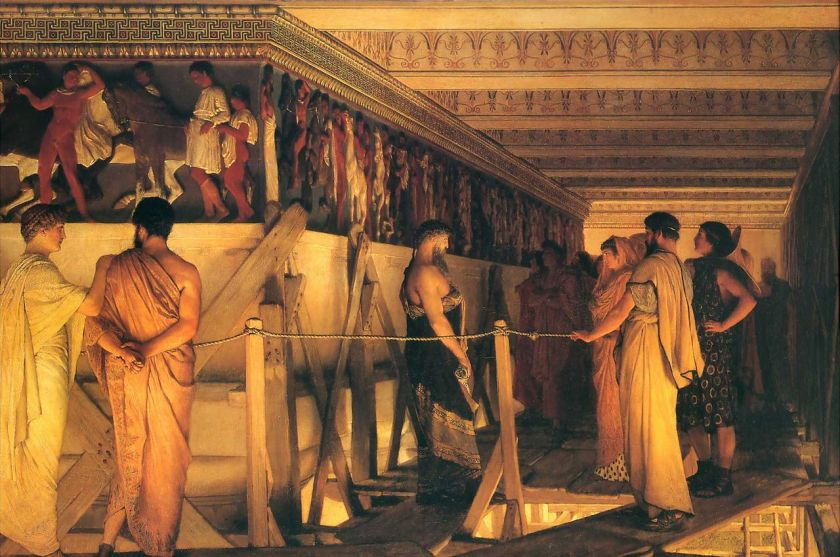 1280px-1868_lawrence_alma-tadema_-_phidias_showing_the_frieze_of_the_parthenon_to_his_friends