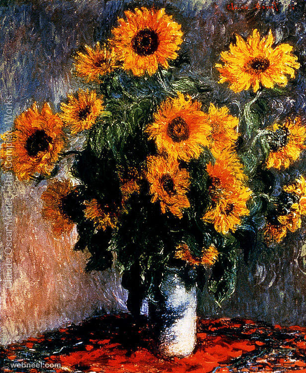 19-sun-flower-claude-monet-painting