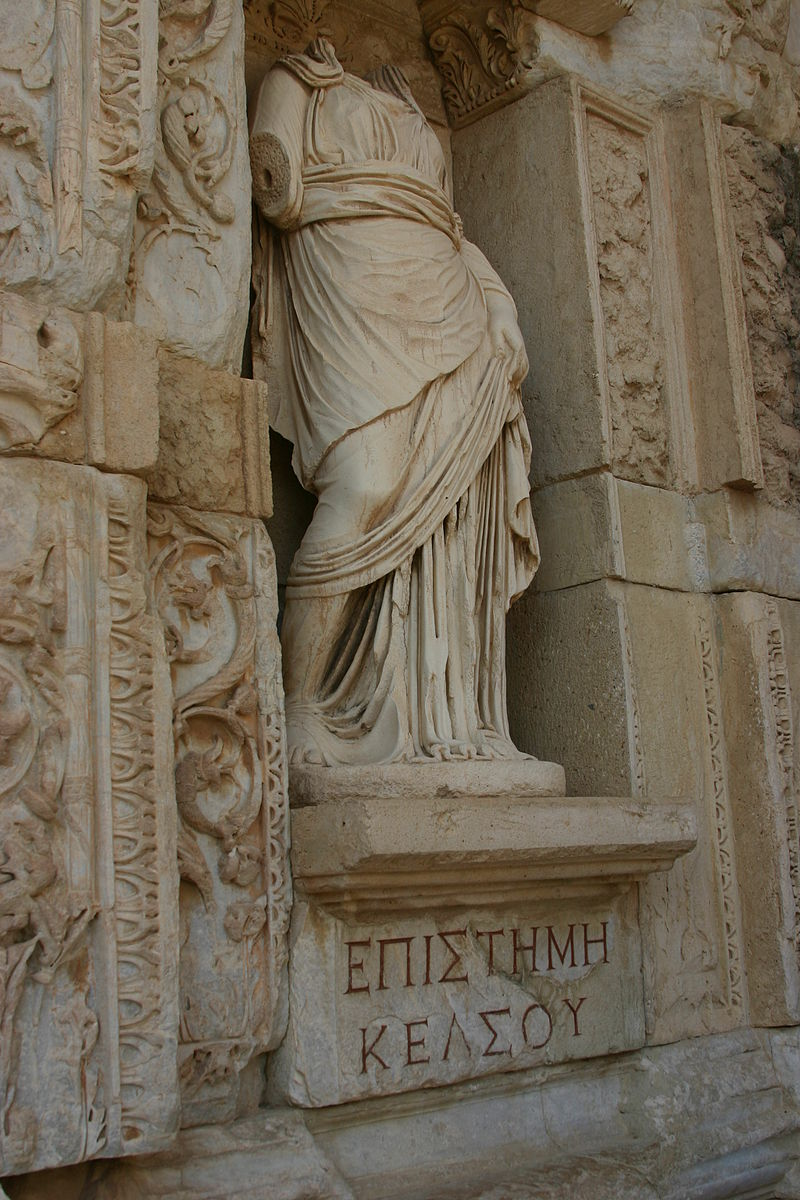 800px-14.26_Episteme_(Knowledge)_in_the_Celsus_Library_in_Ephesus