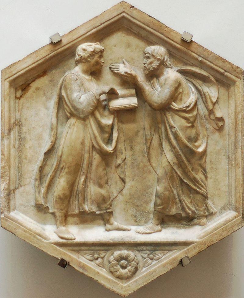 800px-Plato_Aristotle_della_Robbia_OPA_Florence